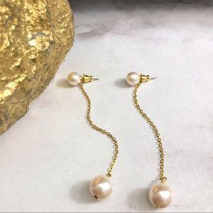 VINTAGE REMAKE!! ✨ Pearl Drop Chain Earrings